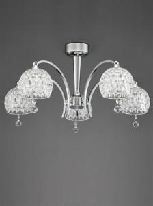 5 light chrome chandelier