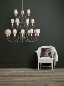 20 light chandelier light fitting. chandelier has shade options